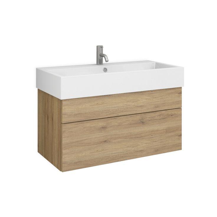BALAI 80 Waschtisch-Set nach Maß mit Blende & Auszug