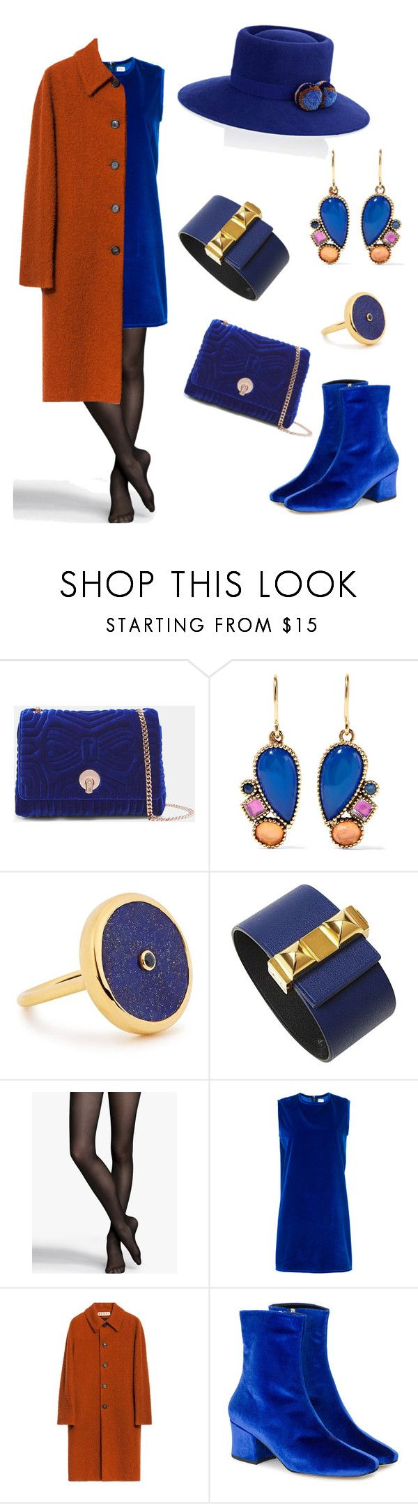 """The Velvet"" by dramainred ❤ liked on Polyvore featuring Ted Baker, Larkspur & Hawk, Lola Rose, Hermès, Express, Maison Rabih Kayrouz, Dorateymur, YOSUZI, fabulous and Elegant"