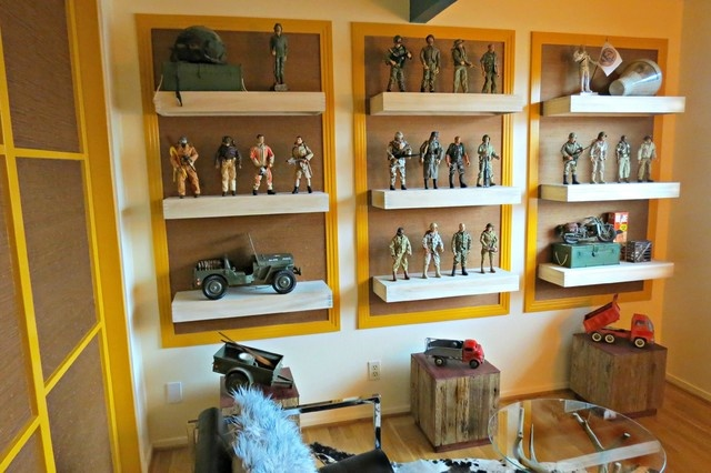 Man Cave Shelving Ideas : Action figure display creative space pinterest