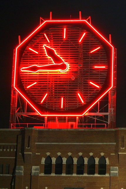 Colgate Clock - Clarksville, IN -- With a diamater or 40 feet, this is one of the largest clocks in the world