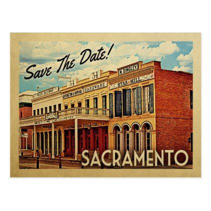 Sacramento Save The Date California Postcard - postcard post card postcards unique diy cyo customize personalize