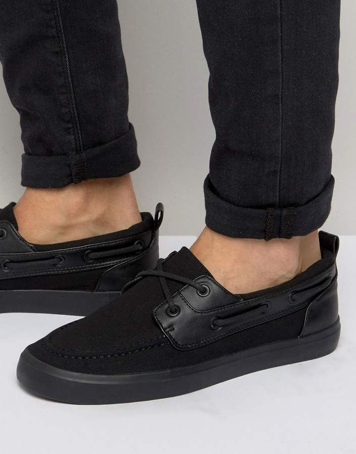 80691750748f89 Asos Boat Shoes In Black  mensshoes  menstyle  affiliate