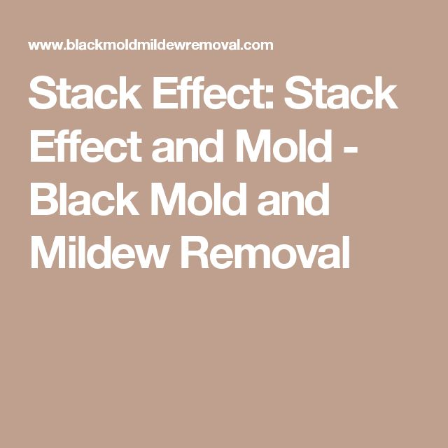 Stack Effect: Stack Effect and Mold - Black Mold and Mildew Removal