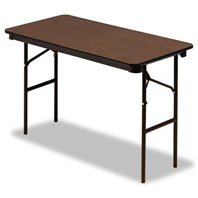 TABLE,24X48,FOLDING,WA by ICEBRG. $109.96. ICE55304 Features: -Top Material: Melamine.-Base/Leg Type: 4 Folding Legs.-Post-Consumer Recycled Content Percent : 0 pct.-Pre-Consumer Recycled Content Percent : 0 pct.-Width : 48 in.-Base/Leg Material: Steel.-Shape: Rectangular.-Global Product Type: Tables.-Top Thickness : 5/8 in.-Depth : 24 in.-Compliance, Standards: Meets or exceeds ANSI/BIFMA standards.-Total Recycled Content Percent : 0 pct. Color/Finish: -Top Color/F...