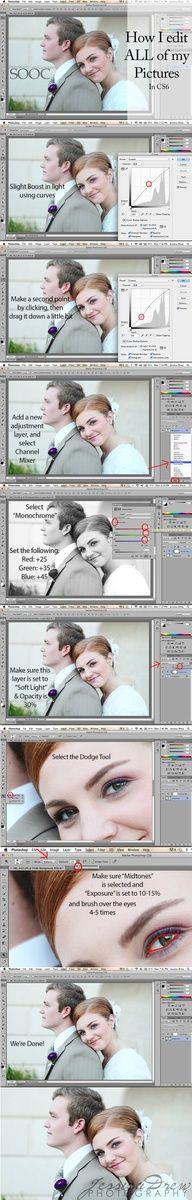 Portrait editing in Photoshop CS6
