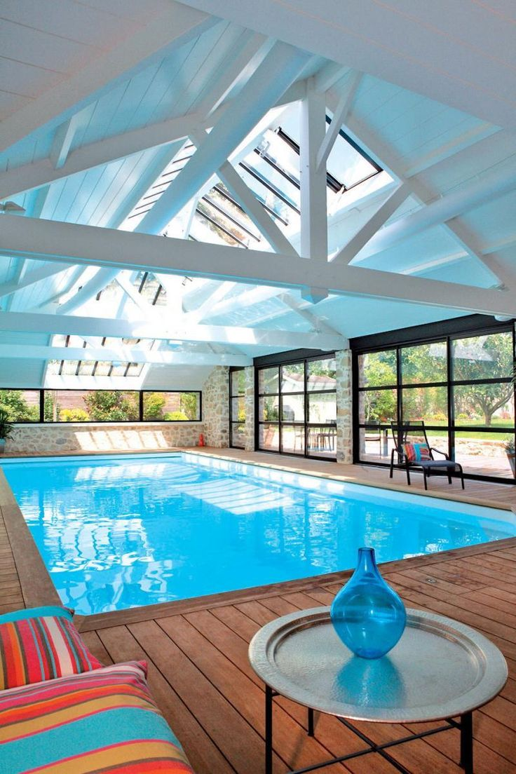 Best 25 indoor pools ideas on pinterest - Photos pool house piscine ...
