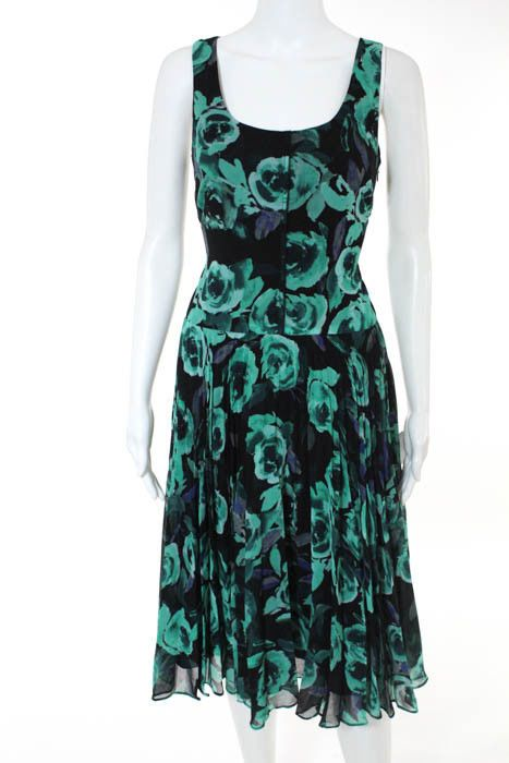 09352f9cc2 Donna Morgan Green Multi-Color Floral Print Pleated Shift Dress Size 2 NWT   158  fashion  clothing  shoes  accessories  womensclothing  dresses (ebay  link)