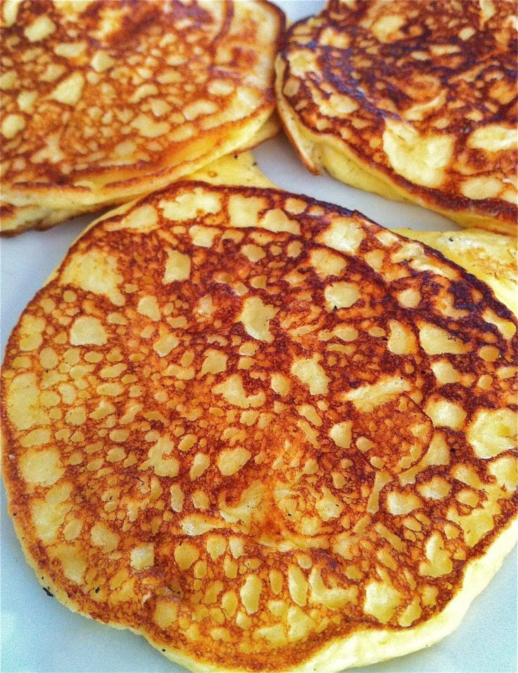 Kathleen's Cottage Pancakes by fountainavenuekitchen: Fluffy, high protein, low carb, no sugar #Pancakes #Healthy