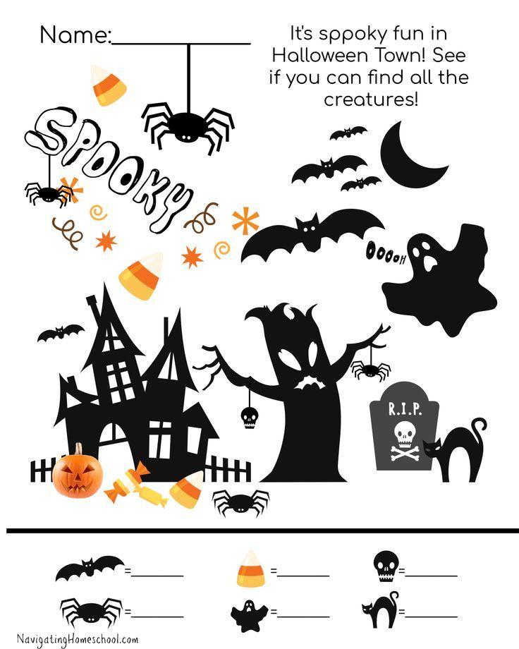 Free Halloween Printable Halloween Party Ideas For Kids Halloween Free Worksheets H Halloween Worksheets Halloween Worksheets Free Halloween Math Worksheets