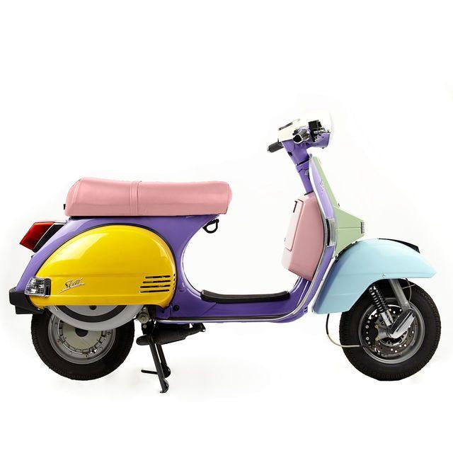 SCOOTER LML STAR 125CC AUTOMATIQUE ART - SIÈGE ROSE + FRAIS ANNEXES, cliquez sur l'image pour shopper #bazarchic #scooter #lml #LML #vespa #paris