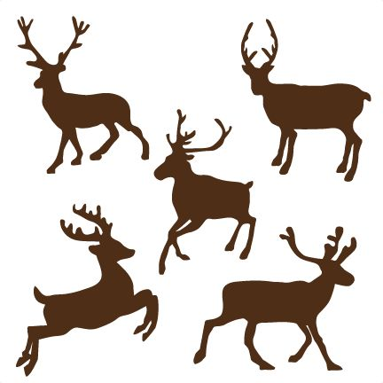Reindeer Set SVG cutting files for scrapbooking cute cut files christmas svg cut files free svgs