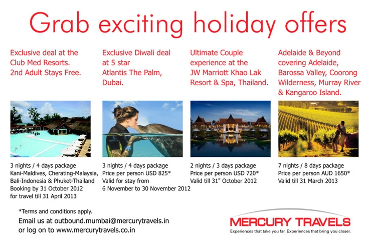 Grab Exciting Holiday Offers!!  - Mercury Travels