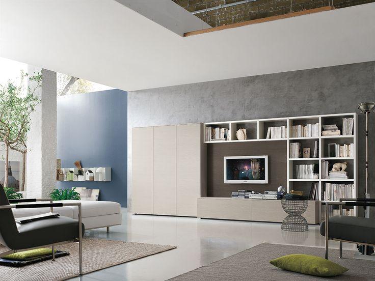 Parete attrezzata per #soggiorno moderno Atlante C308 | gruppotomasella.it