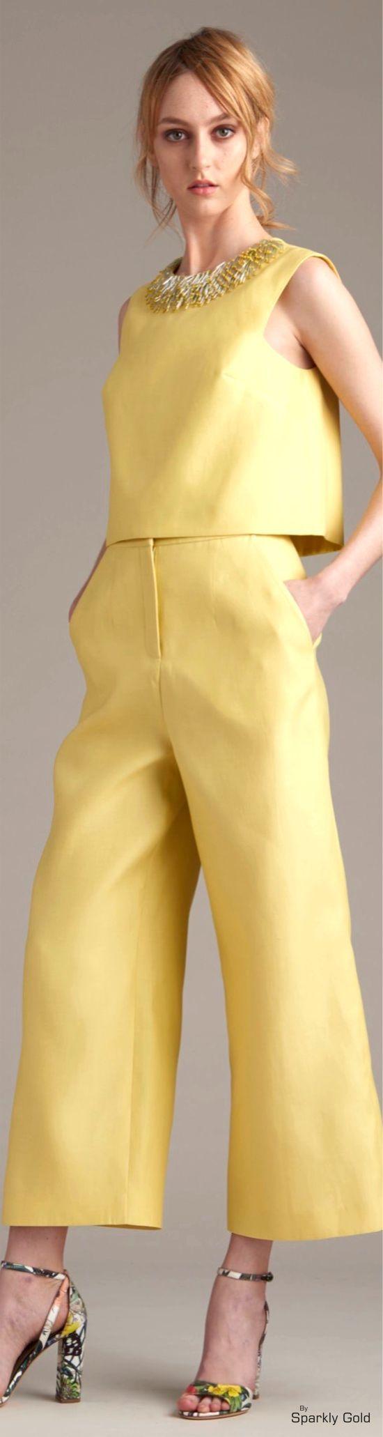 Monique Lhuillier Resort 2016 women fashion outfit clothing style apparel @roressclothes closet ideas
