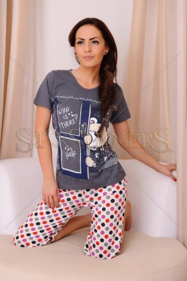Pijama Hello Darling Grey