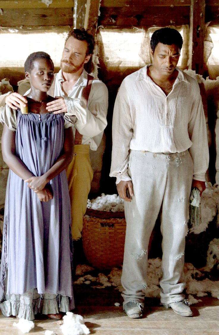 Lupita Nyong'o, Michael Fassbender and Chiwetel Ejiofor in 12 Years a Slave, 2013