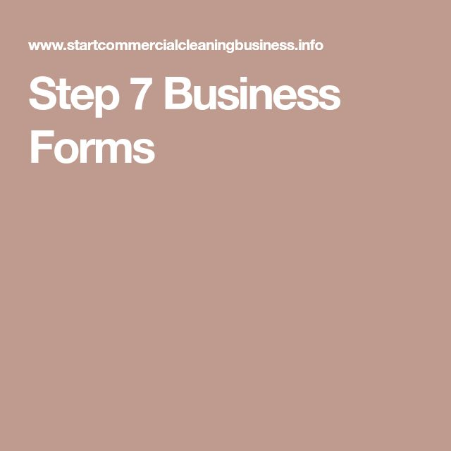 Step 7 Business Forms