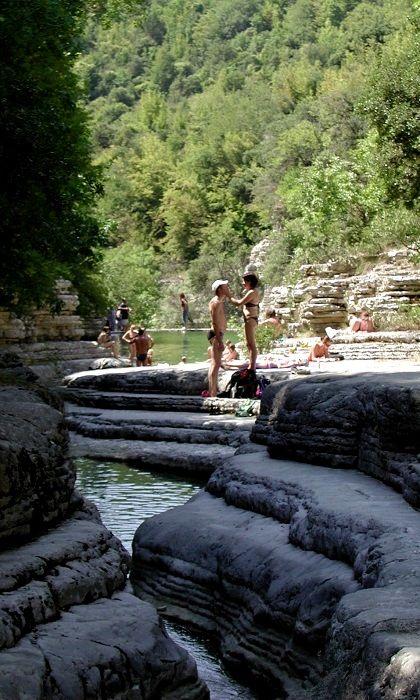 Natural pools.. Mikro Papigo, Epirus, Greece