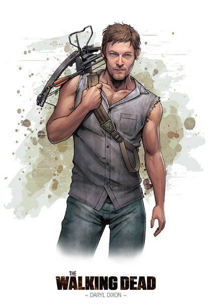 Dessin de Daryl Dixon de The Walking Dead