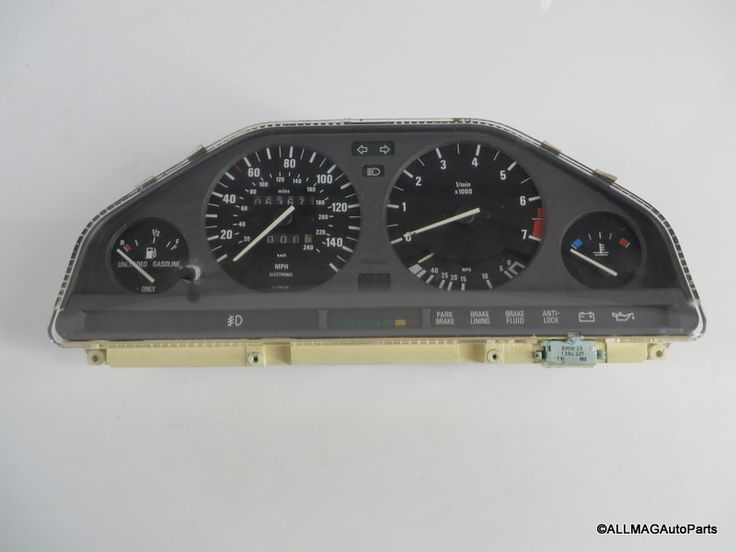 1989-1991 BMW 318i 318is Motometer/VDO Cluster 67 For Parts/Repair E30