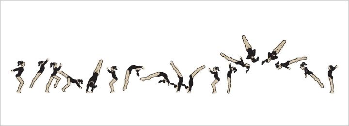 A Vector Gymnast Tumbling Free Download At Www Christinad