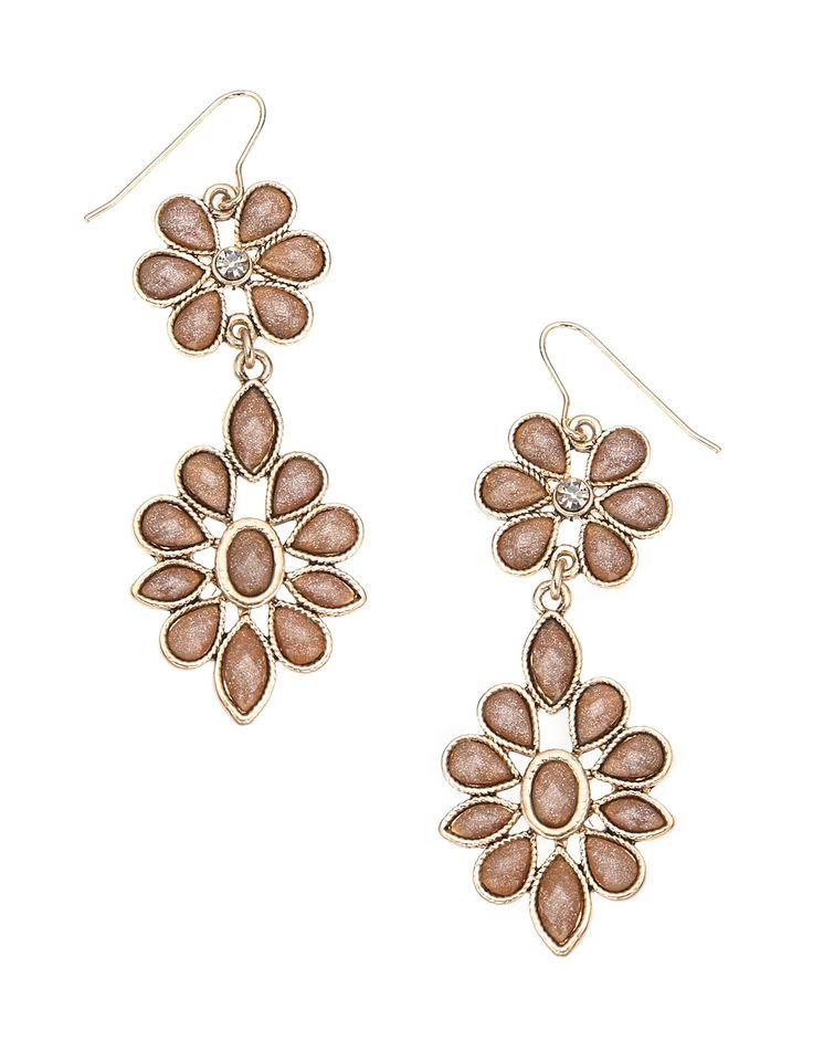 Elaborate Flower Chandelier Earrings | Nude | Accessorize ...