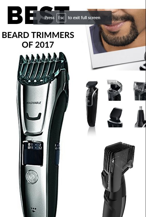 The Best Beard Trimmers Of 2017 - Best Selling Trimmer Comparisons http://www.shavingmachine.org/best-beard-trimmers/