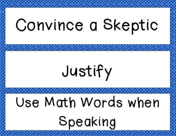 MATH CAFE BULLETIN BOARD HEADINGS AND STRATEGIES--BLUE - TeachersPayTeachers.com