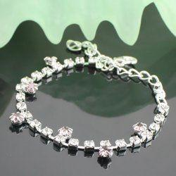 Haut de gamme bracelet strass violet