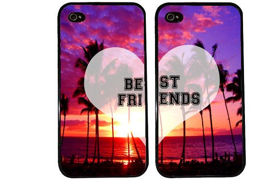 BFF Case / Paradise Sunset Summer iPhone 4 Case Best Friends