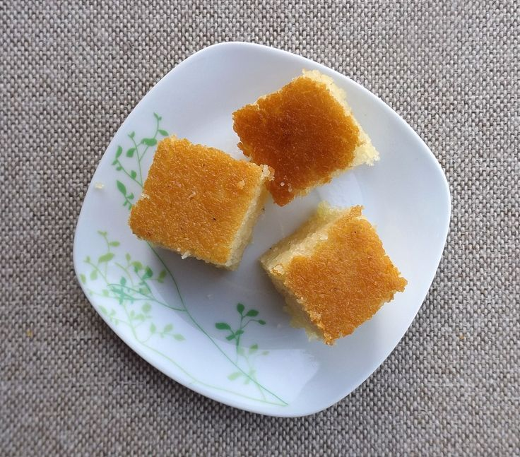 If you haven't tried semolina cake, then this is a must!  A great flavor and texture that everyone will love. Middle east inspired.