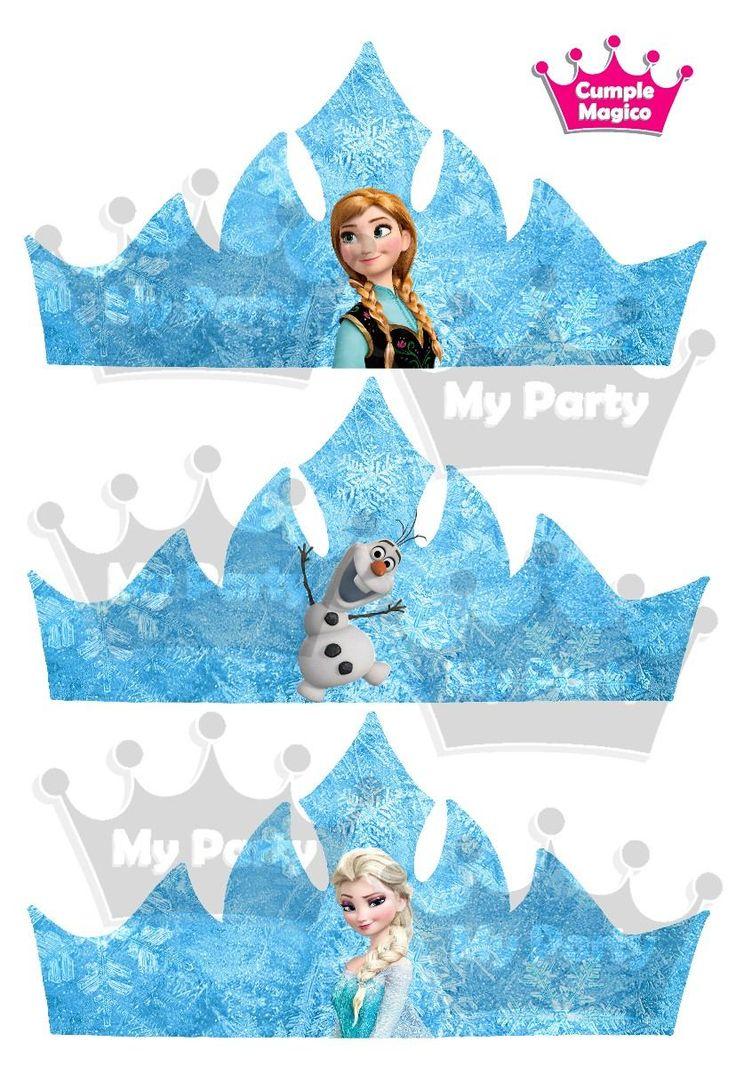 coronas frozen para imprimir - Buscar con Google