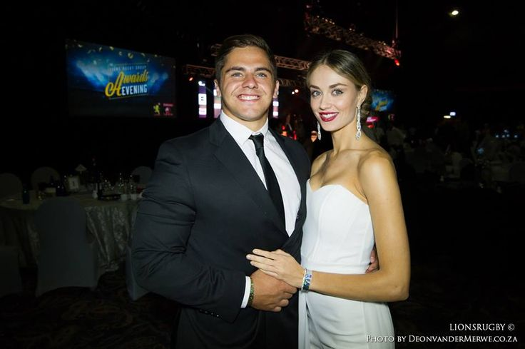 Lions' centre, Rohan Janse van Rensburg and his beautiful date, Anzelle attending the Lions Rugby Group's Awards Night.  #LeyaTheLion #Liontainment #BeThere #MyLionsMoment #LionsAwards2017