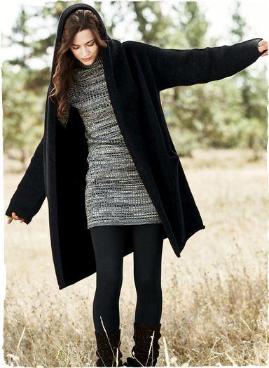 Alpaca blanket coat