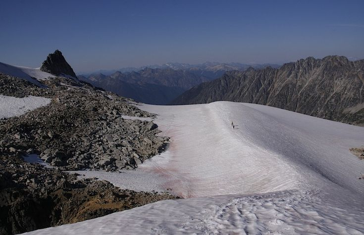 Kokanee Glacier, BC, Canada - This was taken by yours truly after completing what's known as the hike to the Keyhole in Kokanee Glacier Provincial Park. And it truly is a glacier - this was smack in the middle of summer.