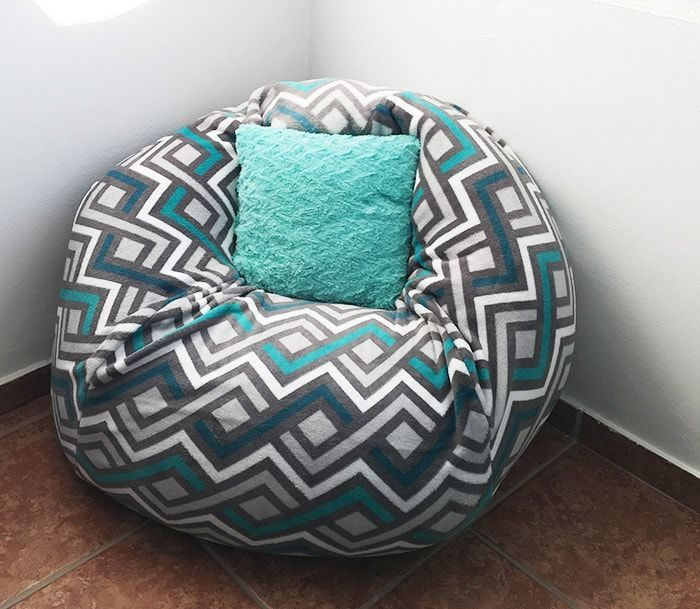 How To Make A Bean Bag Chair Out Of Old Blankets In 2020 With