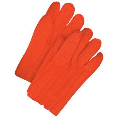 Bob Dale 53-9-Yukon-FR5 Glove Liner Heavy Orange FR Fleece (Pack of 60), Red