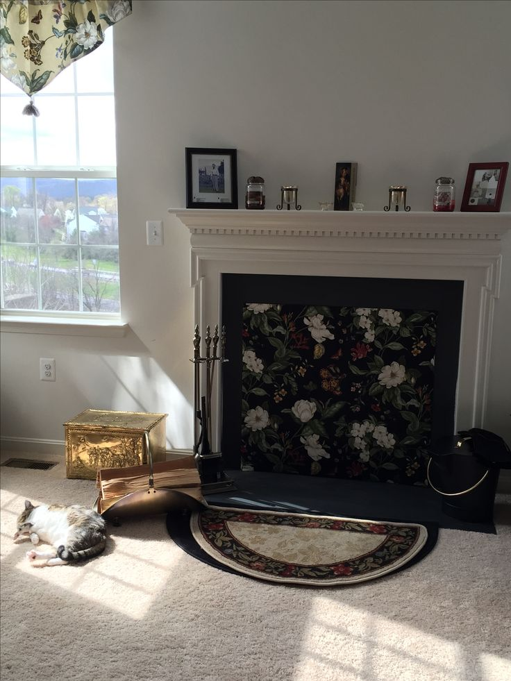 Fireplace cover and Draft stopper