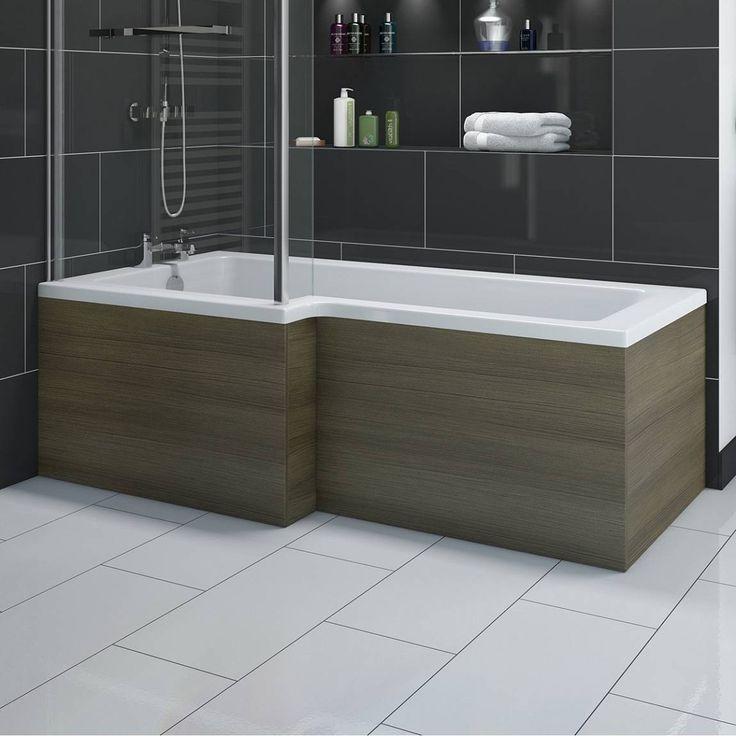 Boston Walnut Shower Bath Side Panel 1700