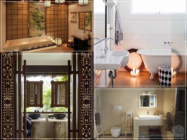 Bagno nordico, bagno rustico, bagno etnico, bagno giapponese