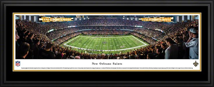 New Orleans Saints Panoramic Picture - Mercedes-Benz Superdome - Deluxe Frame $199.95