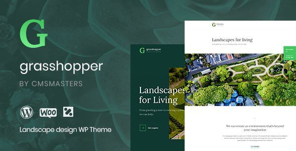 Grasshopper Gardening Landscaping Wordpress Theme Grasshopper Is