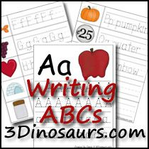 3 Dinosaurs has a lot of new ABC printables out!  Go snag the ones that you'd like for your homeschool. Free printables include: ABC Matching, ABC Stamping, ABC Puzzles,   ABC Writing, and More!