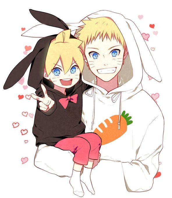 Father&son NARUTO &Boruto☆〜(ゝ。∂)