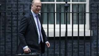 Chris Grayling knocked cyclist off bike outside Parliament