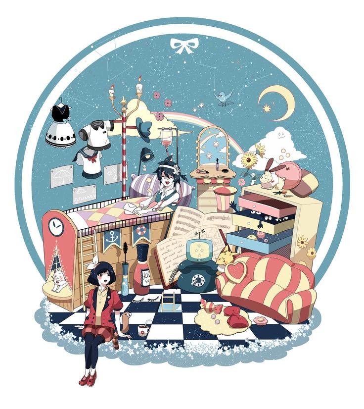 """Planet Room"" original illustration by chamooi"