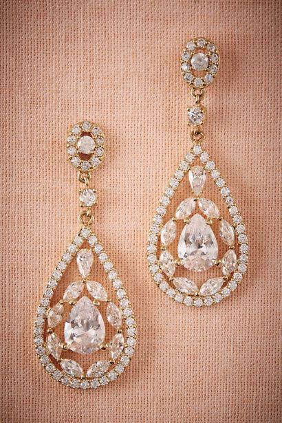 BHLDN Astoria Chandelier Earrings in  Bride Bridal Jewelry at BHLDN