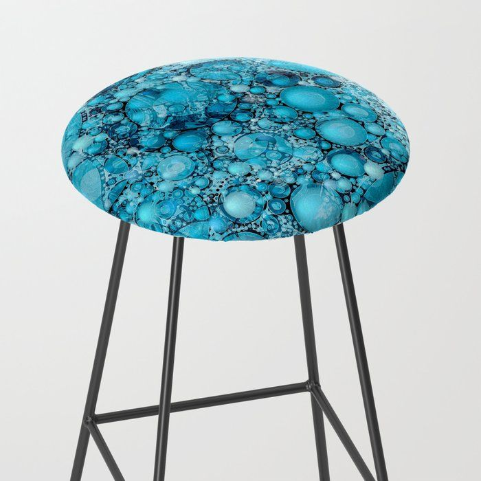 Surprising Ocean Atlantic Blue Bubble Abstract Bar Stool By Home Interior And Landscaping Pimpapssignezvosmurscom