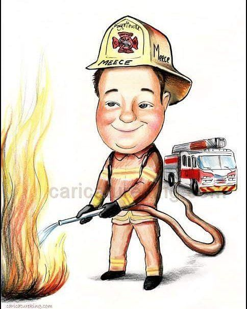 Thinking of a #birthday or #retirement #gift for a fireman? we can help! www.caricatureking.com