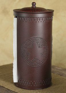 Add this Rustic Star Punched paper towel holder to your kitchen for a Wild West look!